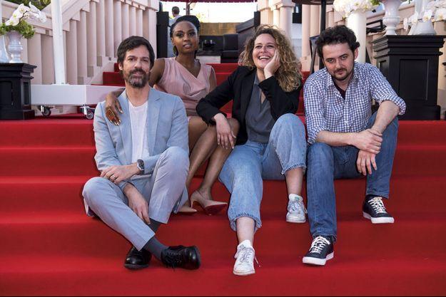 Tapis rouge pour les quatre réalisateurs africains en compétition à Cannes. Avec de g. à dr. : Etienne Kallos, Wanuri Kahiu, Meryem Benm'Barek et Abu Bakr Shawky.