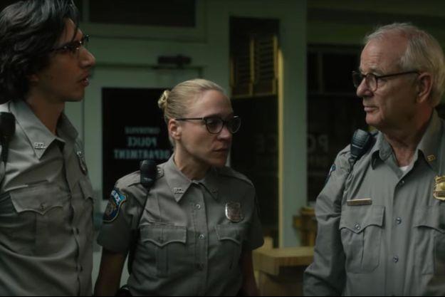 "Adam Driver, Chloe Sevigny et Bill Murray dans ""The Dead Don't Die"" de Jim Jarmusch."