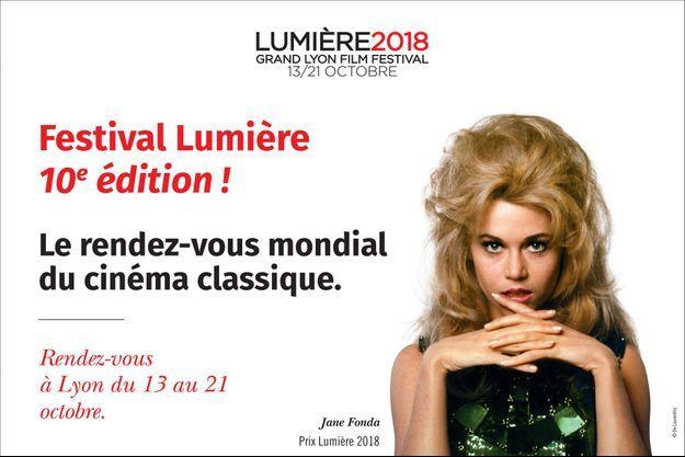 L'affiche de la 10e édition du Festival Lumière.