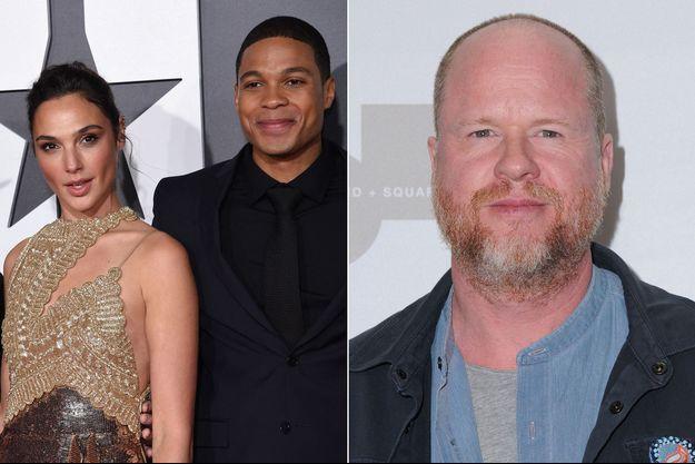 Gal Gadot, Ray Fisher et Joss Whedon