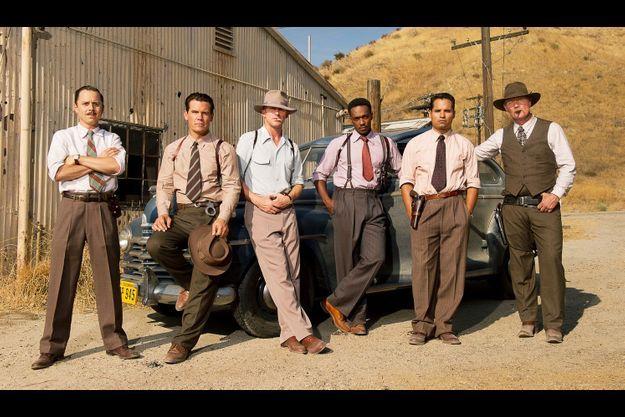 """L'équipe de """"Gangster Squad""""."""