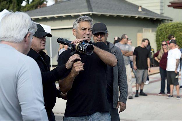 George Clooney pendant le tournage de « Bienvenue à Suburbicon »