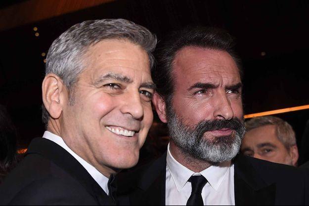 George Clooney et Jean Dujardin aux César
