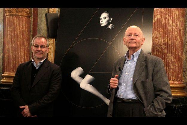 Thierry Frémaux et Gilles Jacob, lors de la présentation du 64e Festival de Cannes.