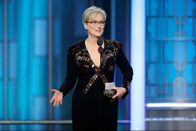 Meryl Streep lors de son discours aux Golden Globes dimanche.