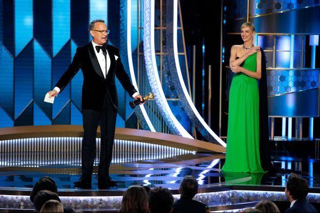 Tom Hanks sur la scène des Golden Globes.