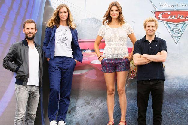 """Le casting des voix françaises de """"Cars 3"""", Nicolas Duvauchelle, Cécile de France, Alice Pol et Guillaume Canet"""