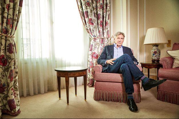 Harrison Ford, Hôtel Le Bristol, Paris, le 20 septembre 2017.