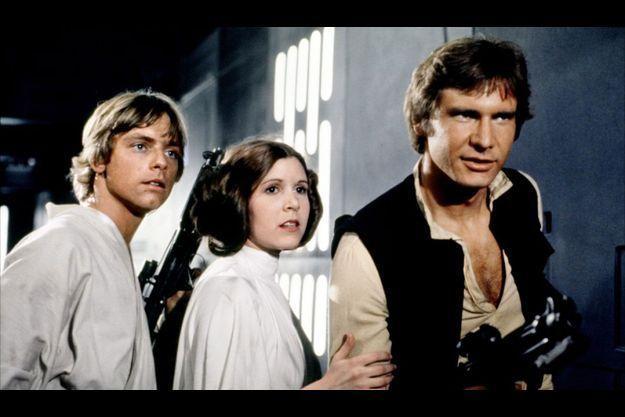 Mark Hamill, Carrie Fisher et Harrison Ford dans «La Guerre des Etoiles».