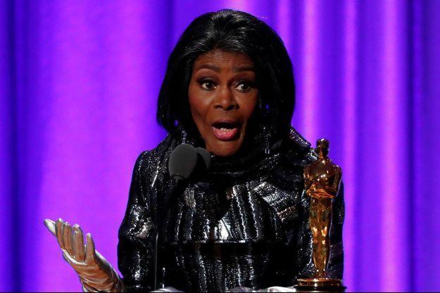 Cicely Tyson en 2018, lors de la remise de son Oscar d'honneur.