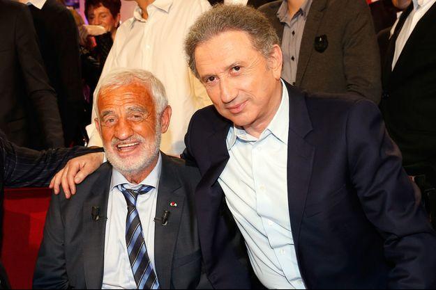 Jean-Paul Belmondo et Michel Drucker en 2013.