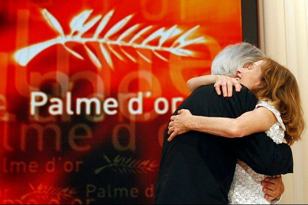 """Présidente du jury en 2009, Isabelle Huppert avait décerné la Palme d'or à Michael Haneke pour """"Le Ruban blanc""""."""