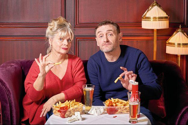 Jeff et Cathy Tuche, alias Jean-Paul Rouve et Isabelle Nanty, redonnent la frite à l'Elysée.