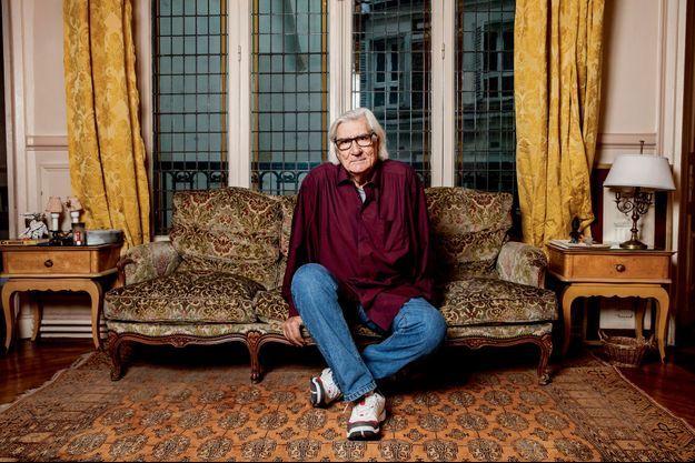 Jean-Claude Brisseau, chez lui à Paris.