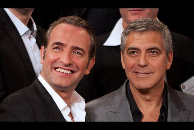Jean Dujardin et George Clooney.