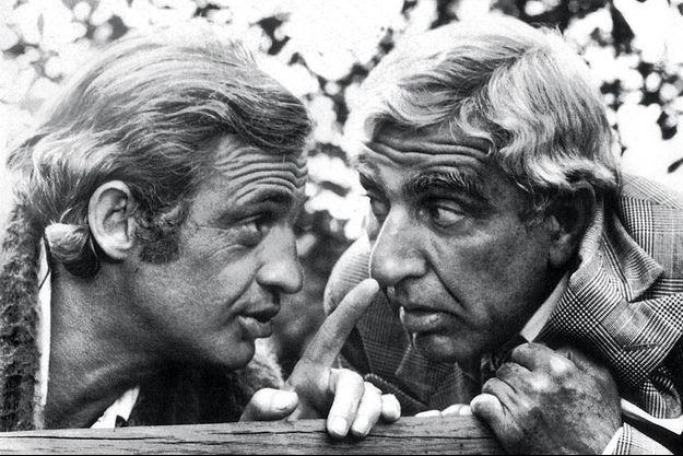 """Le duo idéal du cinéma français dans """"L'Animal"""" de Claude Zidi, qui sortira le 5 octobre 1977 : 3,2 millions d'entrées. Belmondo voit double, il joue deux personnages et multiplie par deux le cachet de son pote Charles."""