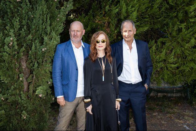 Jean-Paul Salomé, Isabelle Huppert et Hippolyte Girardot à Angoulême le 2 septembre 2020.