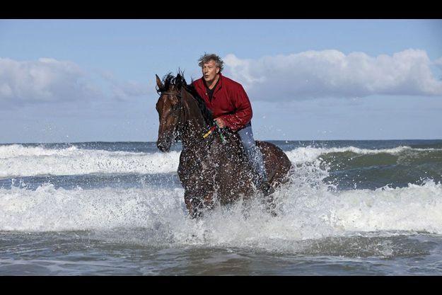 « Hollywood », comme l'appellent désormais les gens du bassin, avec Ursulo, sur la plage du Truc Vert, au Cap-Ferret.