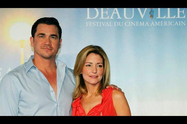 """Kathryn Stockett et le réalisateur de """"la Couleur des sentiments"""", Tate Taylor au festival de Deauville."""