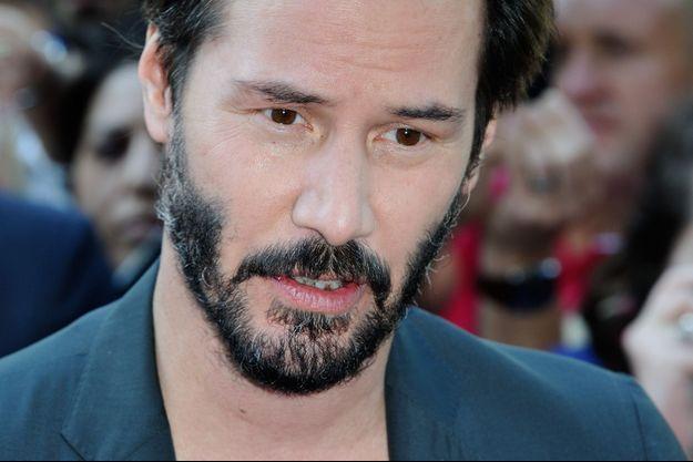 Keanu Reeves, lors du Champs-Elysées Film Festival.