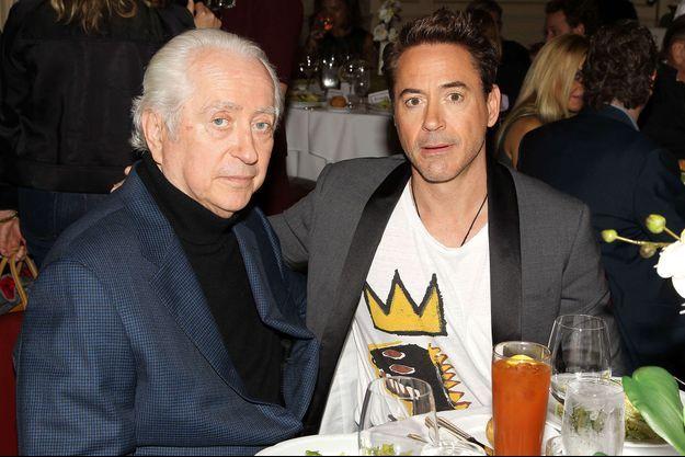 Robert Downey Sr. avec son fils Robert Downey Jr. en 2014
