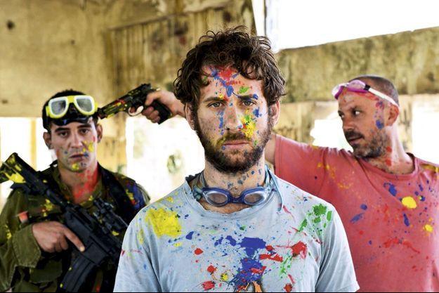 Les frères Rozenkier dans « The Dive ». De g. à dr., Micha, Yona, le réalisateur, et Yoel.