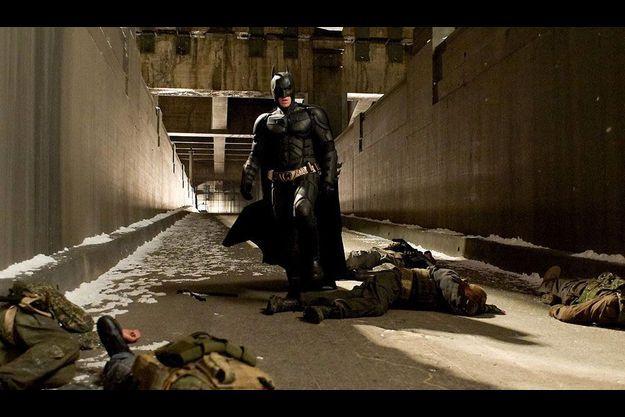 Christian Bale en costume de Batman dans «The Dark Knight Rises».