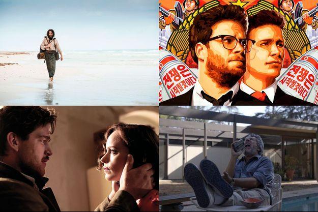 """De haut en bas, de gauche à droite: """"The Cut"""", """"The Interview"""", """"Phoenix"""" et """"Réalité""""."""