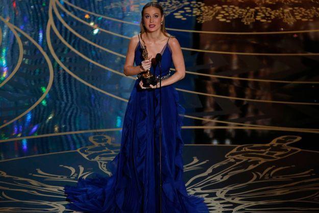 Brie Larson lors des Oscars 2016.