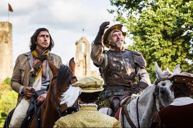 """Adam Driver et Jonathan Pryce dans """"L'Homme qui tua Don Quichotte"""""""