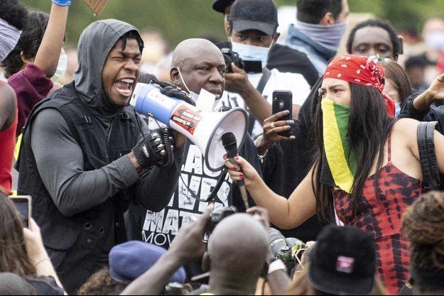 John Boyega, le 3 juin lors d'une manifestation à Londres.