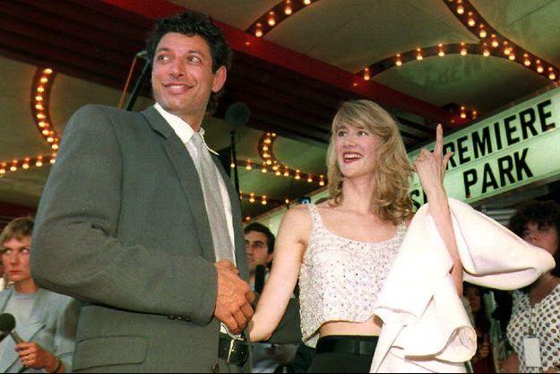 """Jeff Goldblum et Laura Dern en 1993 à la sortie de """"Jurassic Park"""""""