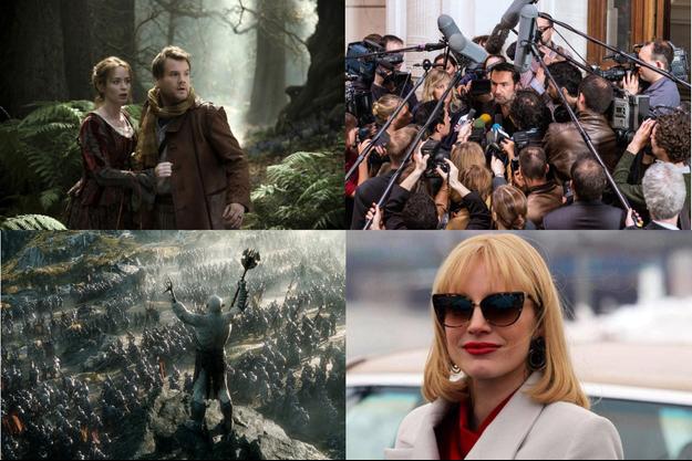 """""""Le Hobbit: la bataille des cinq armées"""", """"A Most Violent Year"""", """"Into the Woods"""" et """"L'Enquête""""."""
