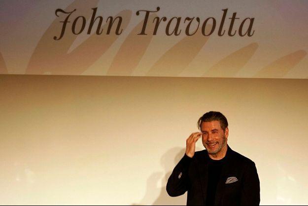 John Travolta lors de sa masterclass à Cannes.