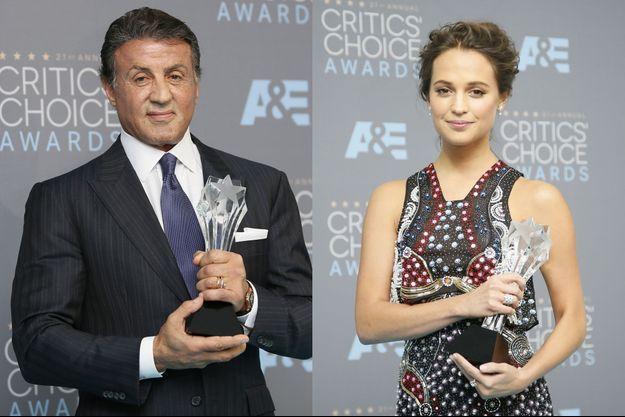 Sylvester Stallone et Alicia Vikander