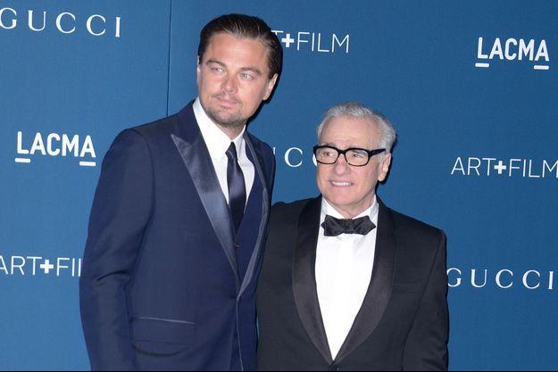 Leonardo DiCaprio et Martin Scorsese à Los Angeles en novembre 2013.