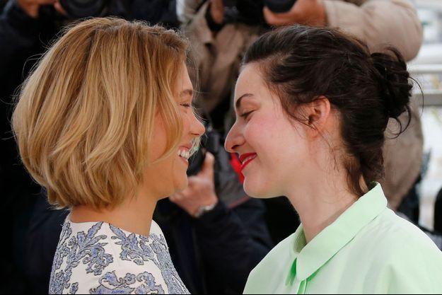 Léa Seydoux et Rebecca Zlotowksi, lors du dernier Festival de Cannes