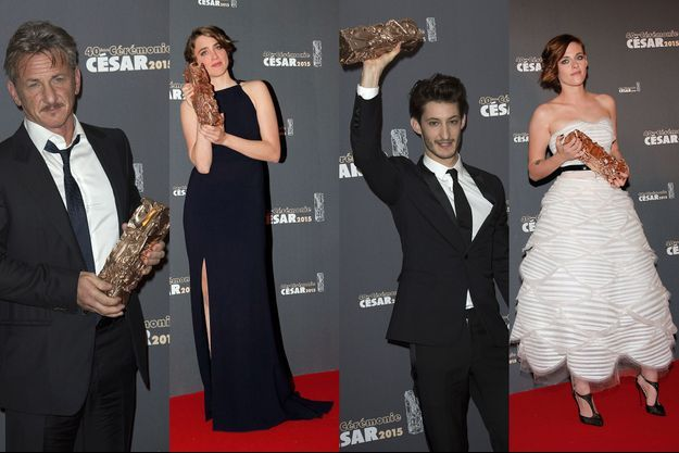 Sean Penn, Adèle Haenel, Pierre Niney et Kristen Stewart aux César 2015.