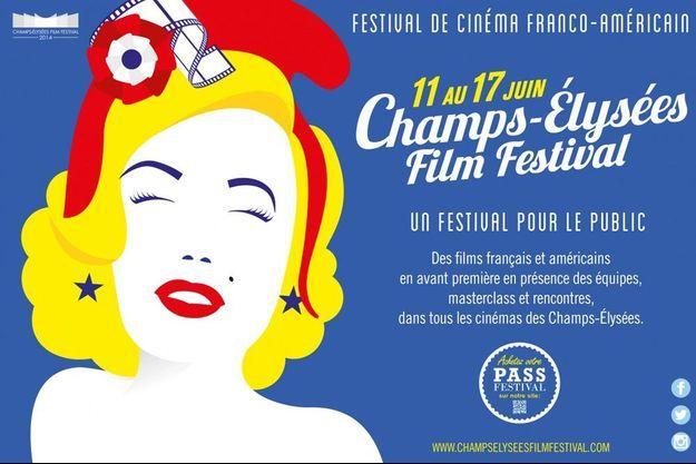 L'affiche de la 3e édition du Champs-Elysées Film Festival.