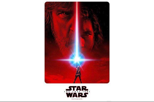 """L'affiche promotionnelle du film """"Star Wars: Les derniers Jedi""""."""