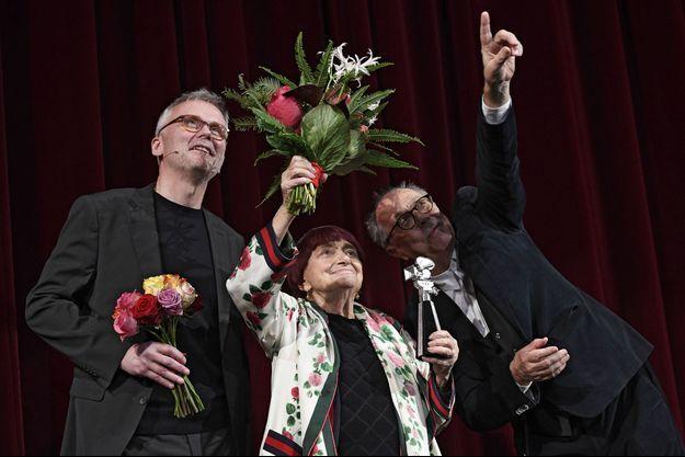 Agnès Varda lors du Festival de Berlin 2019.