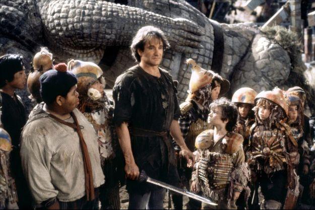 """Robin Williams et les """"enfants perdus"""" de """"Hook""""."""