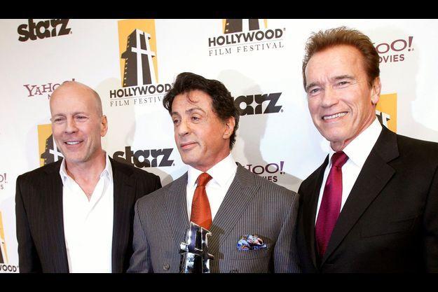 Arnold Schwarzenegger, Bruce Willis et Sylvester Stallone