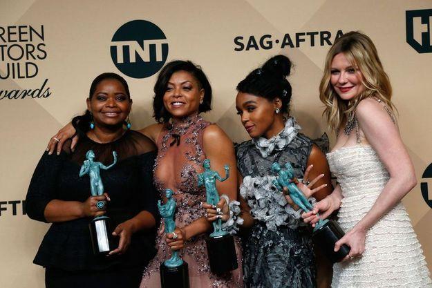 """Le casting des """"Figures de l'ombre"""" : Octavia Spencer, Taraji P. Henson, Janelle Monae et Kirsten Dunst"""