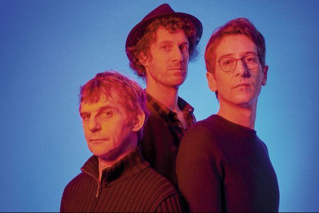 De g. à dr. : Lucas Belvaux, Florent Marchet et Arnaud Cathrine.