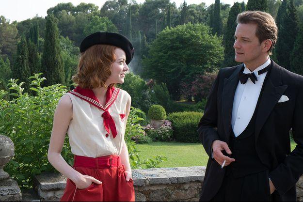 "Emma Stone et Colin Firth dans ""Magic in the Moonlight"" de Woody Allen."