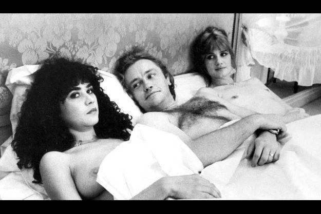 "Maria Schneider, Niels Arestrup et Miou Miou dans ""La Derobade"" en 1979"