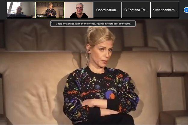 Marina Foïs lors de la conférence de presse virtuelle des César.