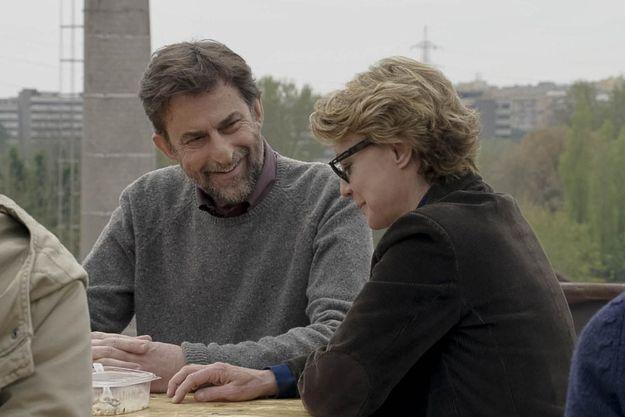 """Nanni Moretti et Margherita Buy dans """"Mia Madre""""."""