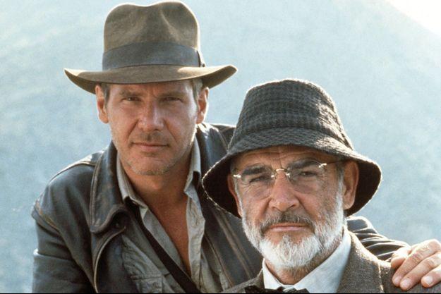 """Harrison Ford et Sean Connery dans """"Indiana Jones et la dernière croisade"""" en 1989."""